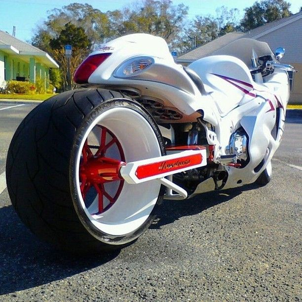 Hayabusa white and red and fast all over!!