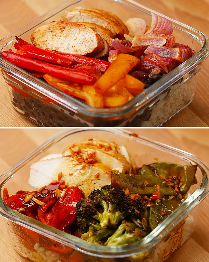 One-Pan Chicken And Veggie Meal Prep 2 Ways