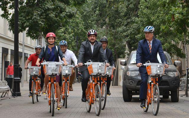 sistema de bicicletas públicas en Santiago
