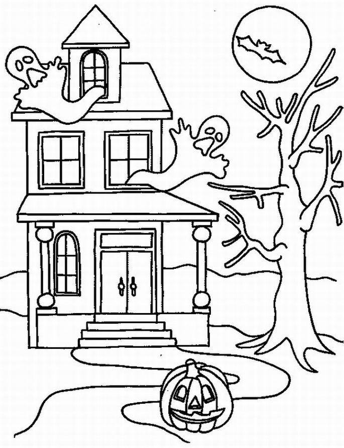 printable halloween pictures to color   HALLOWEEN COLORINGS