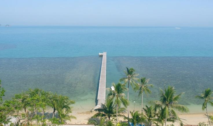 L'île paradisiaque de Koh Samui en Thaïlande. Quai privé du luxueux hôtel Intercontinental Samui Baan Taling Ngam Resort.  Photo Sarah-Émilie Nault / Agence QMI