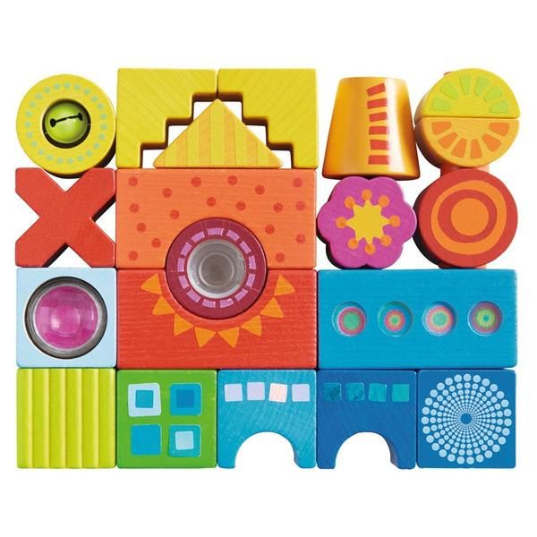 Color Joy Wooden Building Blocks - Haba via Send A Toy