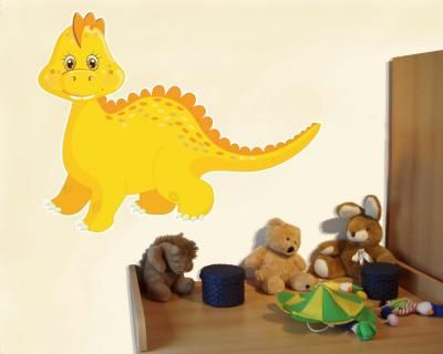Simple Buntes Wandtattoo Gelber Dino Gelber Dino Wandtattoo in einer Breite ab cm Wandtattoo KinderzimmerAbs
