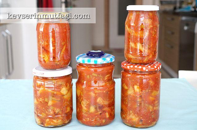 Kızarmış Patlıcan Konservesi Tarifi | Kevserin Mutfağı - Yemek Tarifleri