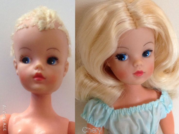 Rerooted Trendy girl before and after