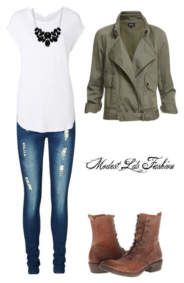 """Modest_Lds_Fashion"" by modest-mormon-fashion ❤ liked on Polyvore featuring Vero Moda, Witchery, Frye and Style & Co."