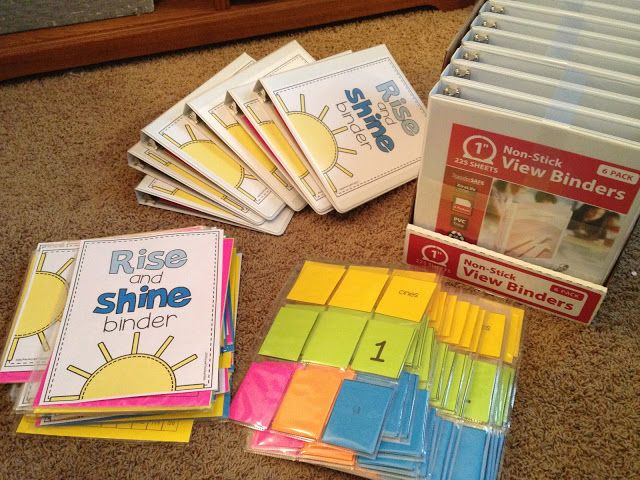 putting together the rise and shine binder