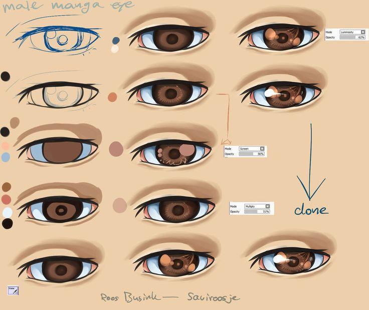 Step By Step - Male Manga Eye tut by Saviroosje on ...