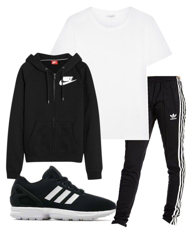 """""""Untitled #163"""" by kingrabia on Polyvore featuring adidas Originals, Yves Saint Laurent and NIKE"""