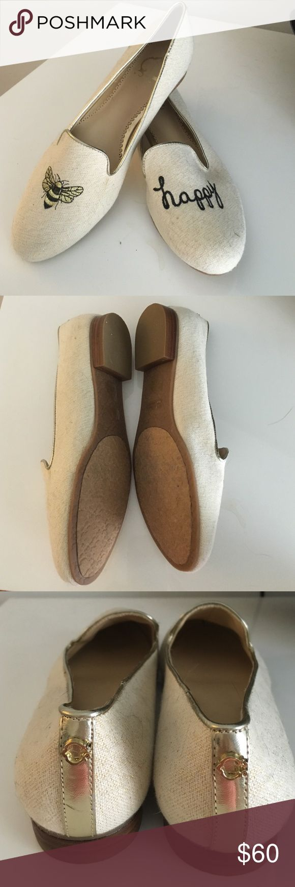 "C Wonder ""Bee Happy"" Loafers NWOT 7 1/2 Super cute C Wonder Bee Happy loafers. Size 7 1/2 Never worn. Slight discoloration from storage please see pics. Beautiful embroidery of ""bee happy"". C Wonder emblem on heel. So sad this company closed! C Wonder Shoes Flats & Loafers"