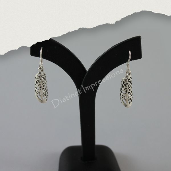 A unique choice, these eye catching sterling silver earrings will always be in style.
