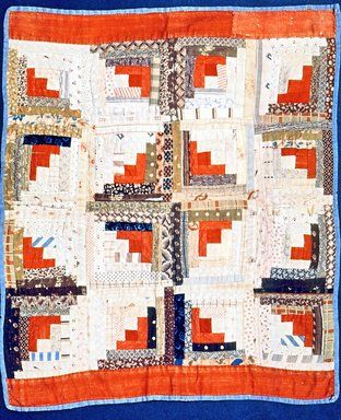 Pieced Quilt for Doll, mid 19th century. cotton, 16 1/2 x 18 3/4 in. (41.9 x 47.6 cm). Brooklyn Museum, Gift of Mrs. E. B. Butler, 30.1144
