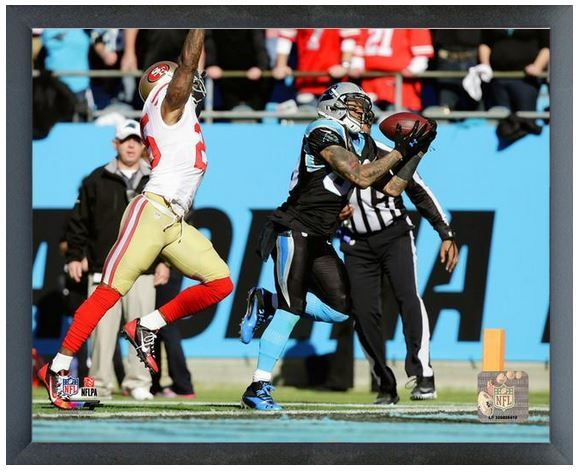 "Steve Smith Panthers 2013 Playoffs- 11"" x 14"" Photo in a Glassless Sports Frame"