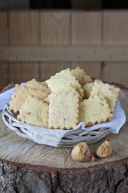 Biscoitos amanteigados de figo e nozes/Fig and walnut shortbread cookies - Violeta Pasat