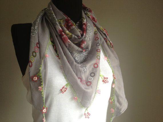 Yemeni scarf Oya lace scarf Crochet scarf Anatolian by katnosia, $9.99