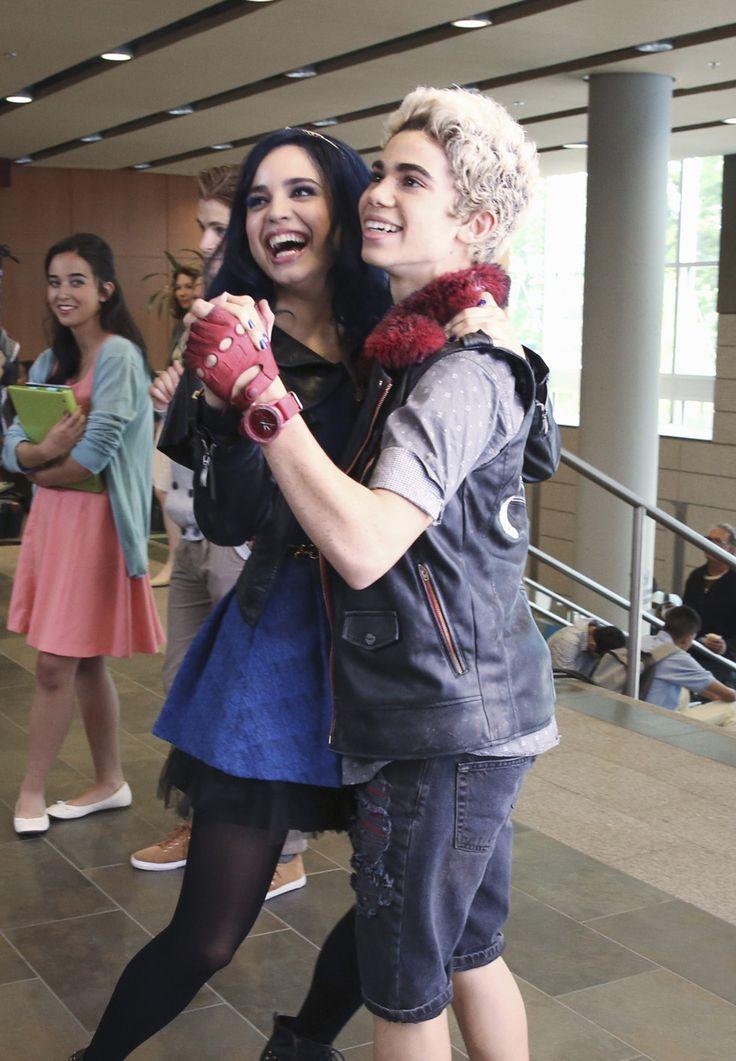 Disney Channel actress Sofia Carson professes her love to 'Descendants' co-star Cameron Boyce.