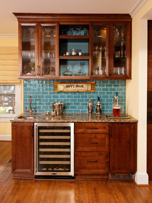 built-in kegerator and bar - this idea but different