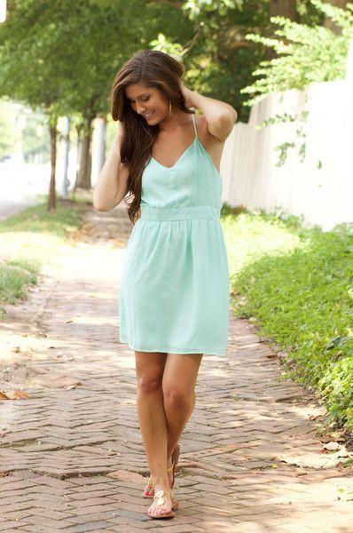 Mint Criss Cross Dress – Frill Clothing
