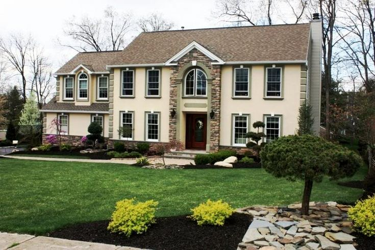 17 best images about stone exterior on pinterest front for Modern colonial home exterior