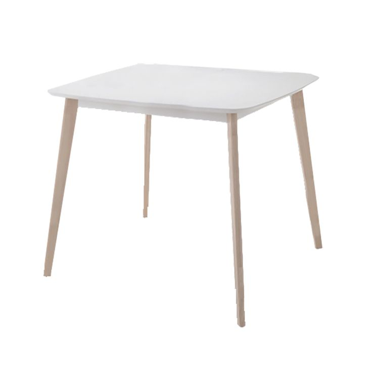 Wooden table Memory MDF top white wash 120x75x75