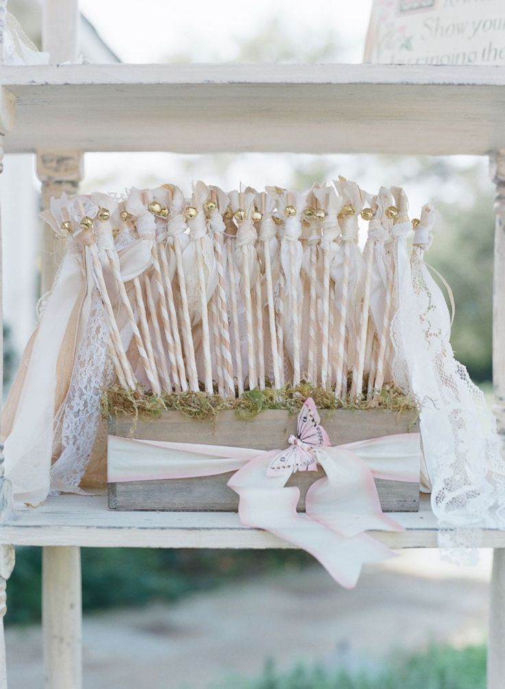 Wedding Wands with Vintage Ribbons    Photography: Elizabeth Messina   Read More:  http://www.insideweddings.com/weddings/fairy-tale-wedding-with-enchanted-forest-theme-in-santa-barbara/778/