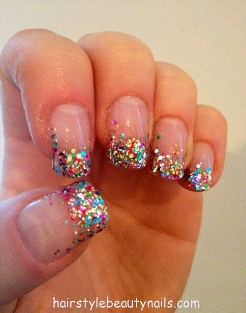 nails beauty art design glitter picture photo image (14) http://www.hairstylebeautynails.com/nails-designs/glitter-nails-art-13/