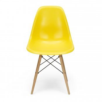 Eames Style Yellow DSW Chair. Torn between this bright sunny yellow and the teal. For the office