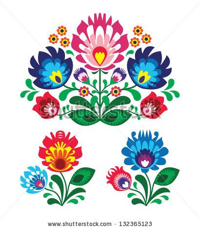 floral folk | stock-vector-polish-floral-folk-embroidery-pattern-132365123.jpg