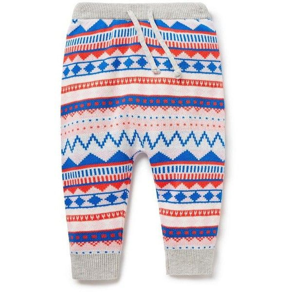 Baby Girls Pants & Shorts | Fairisle Knit Pant | Seed Heritage ($45) ❤ liked on Polyvore featuring kids