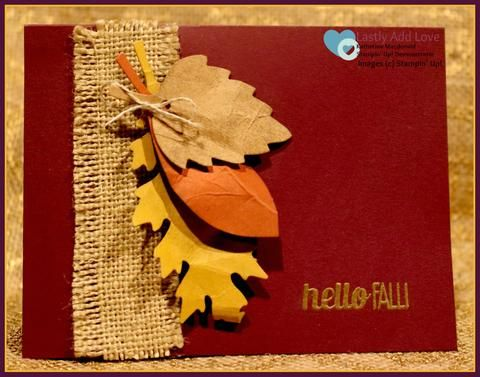 Fall Leaves - Set of 3 Cards & Envelopes - Lastly Add Love - 1