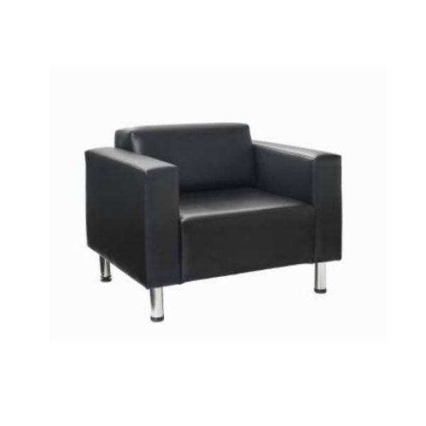 The Quartz Single Seat Lounge features boldly stylish contemporary lines and is available in black or brown PU vinyl for immediate delivery. A beautiful addition to any space! #seated #quartz #lounge #leather seated.com.au