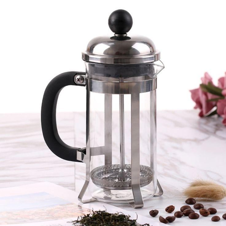 350ml glass blunt french press coffee maker kettle pot