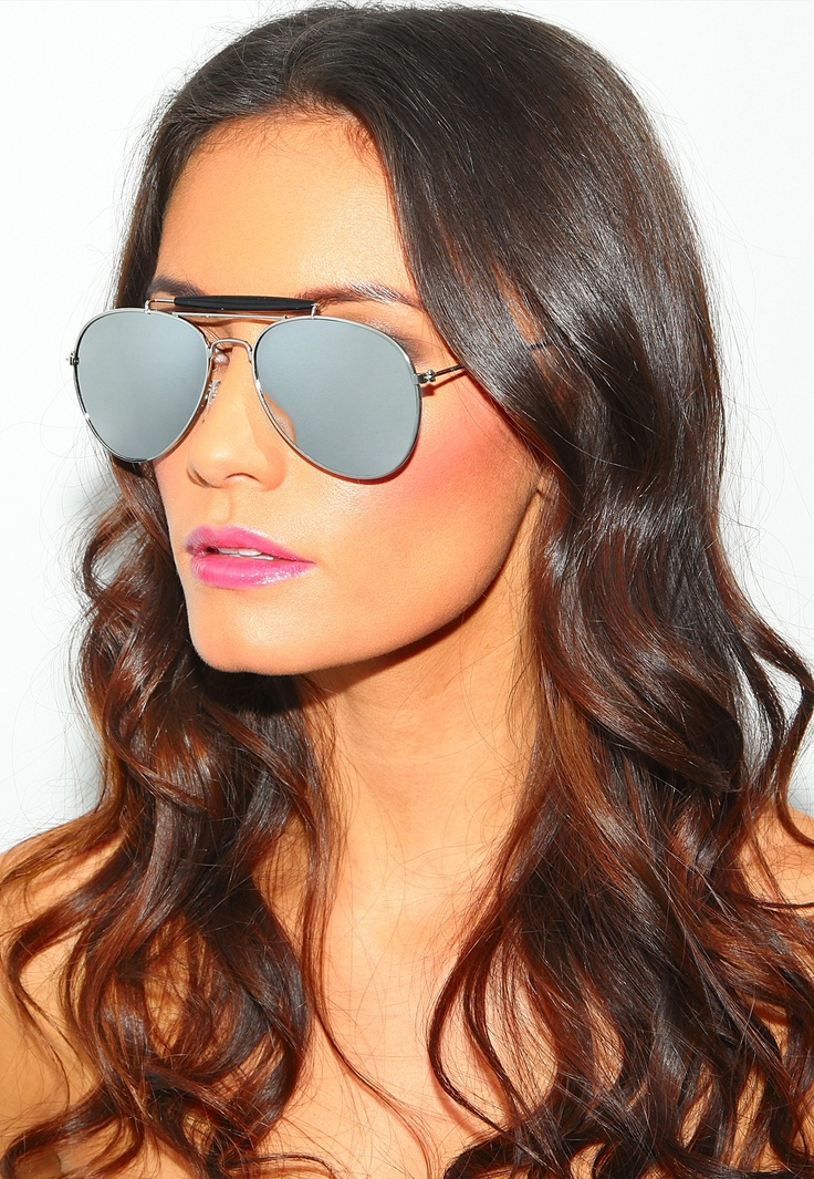 Pookie Mirrored Aviator Sunglasses #MGWINTERWARDROBE
