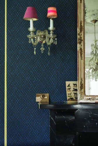 Nieuw behang f b evt voor bij trap ipv muur blauw schilderen project m t pinterest search - Schilderen muur trap ...