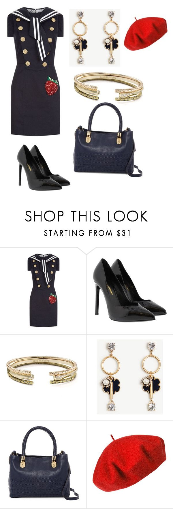 """Untitled #531"" by jenn-m31 ❤ liked on Polyvore featuring Dolce&Gabbana, Yves Saint Laurent, Kendra Scott, Ann Taylor, Cole Haan and Betmar"