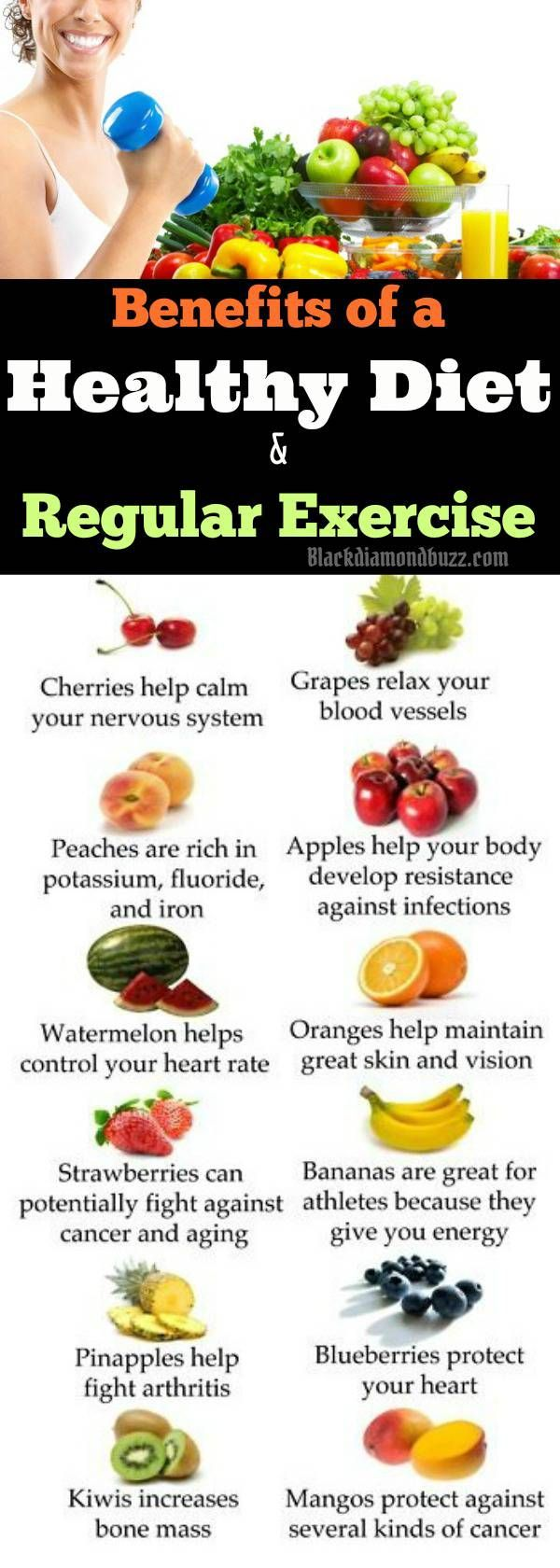 Benefits of a Healthy Diet and Regular Exercise for Healthy lifestyle . It helps you lose weight, lower the risk of some cancer , boost energy, sleep better,lower the risk of types 2 diabetes ,Strengthen your bones and muscles,boost your energy and improve Your mental health and mood.