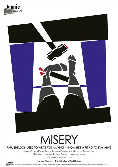 Iconic Moments Misery Film Poster - Created by Steven Parry - www.stevenparry.net