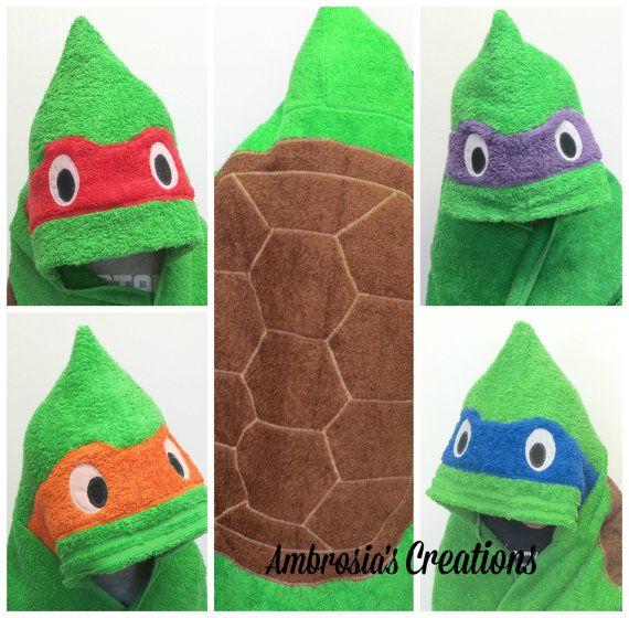 Teenage Mutant Ninja Turtle Hooded Towel  4 by AmbrosiasCreations, $65.00