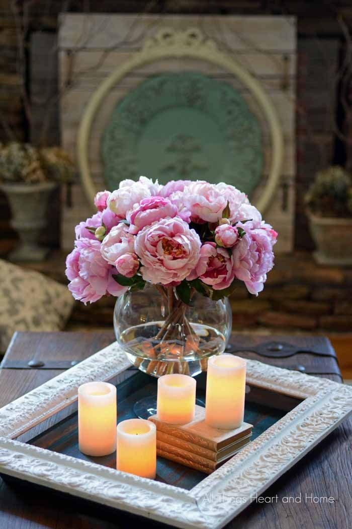 Evoke a happy and serene feeling in your home with these Hampton Peonies forever flowers.