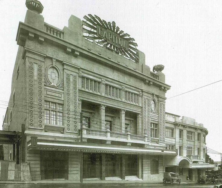 Capitol Theatre, 10 William Street, Perth c. 1930s. Why on earth would they demolish such a building? Especially when you see what replaced it. Ugly! Bob Dylan performed here in 1966. George Temple Poole, I apologise on behalf of the twits who demolished your lovely theatre in 1968. http://en.wikipedia.org/wiki/Capitol_Theatre,_Perth