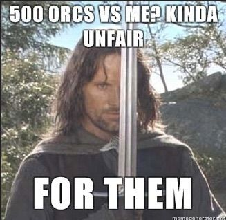 Bild via We Heart It https://weheartit.com/entry/102833866 #aragorn #lordoftherings #LOTR #orcs