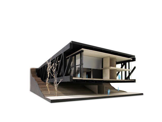 Laboratorio de arquitectura, PRIII Andrea Risueño :: Maqueta TAKE AWAY ARCH.