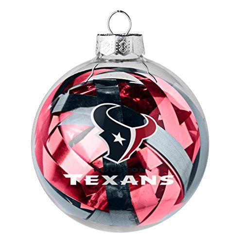 NFL Houston Texans Large Tinsel Ball Ornament * You can find out more details at the link of the image.