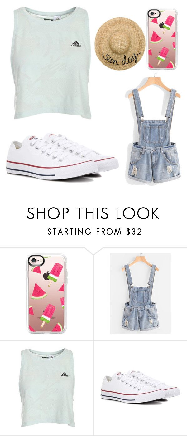 """""""Just a little something cause it's a Sunny day☀️"""" by annieleblanc122 ❤ liked on Polyvore featuring Casetify, Converse and Eugenia Kim"""