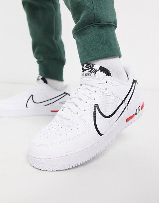Nike Air Force 1 React trainers in white   ASOS   Nike, Sneakers ...