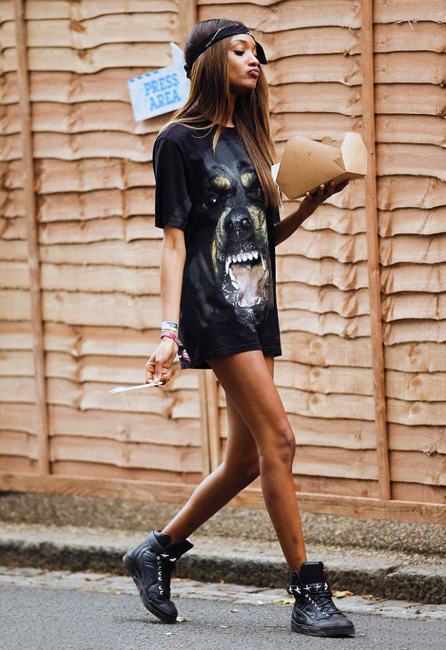 Jourdan Dunn at the Wireless Music Festival, Finsbury Park, London What a badass look! Gorgeous!