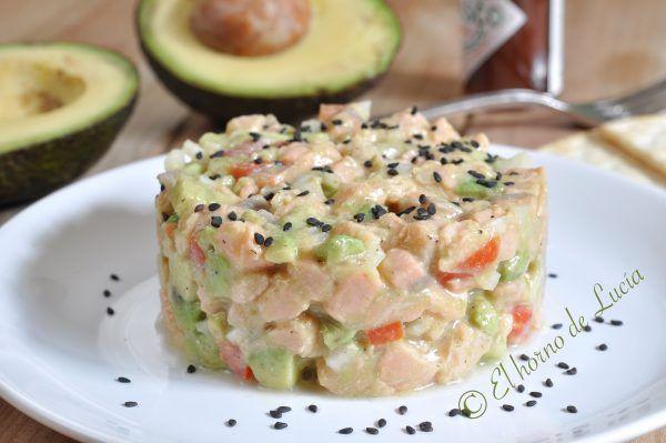 #Tartar de #salmón y #aguacate #singluten #sinlacteos #sinhuevo