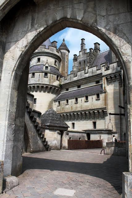 Chateau de Pierrefonds, Picardie, France ~ a castle was built in the 12th century. In 1392, King Charles VI gave it to his brother Louis, Duke of Orléans. In March 1617, the castle, then the property of François-Annibal d'Estrées (brother of the beauty Gabrielle d'Estrée), who joined Henri II, Prince of Condé, was besieged and taken by troops sent by Richelieu.