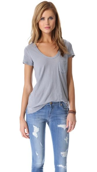 James Perse is my favorite for tees and casual wear!  So soft!  Slub Boyfriend Tee