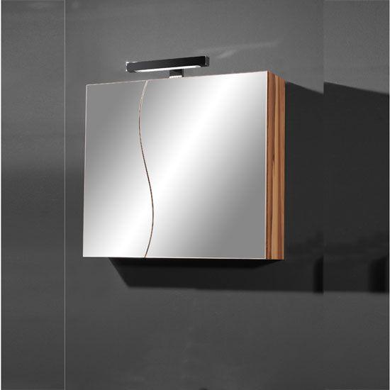 Elegance Mirrored Baltimore Walnut Bathroom Cabinet 25495 Bathroomcabinet Furnitureinfashion